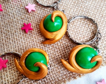 Keychain inspired Spiritual Stone Forest, The legend of Zelda, Polymer clay