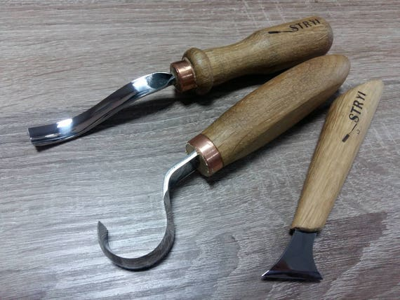 Spoon carving set of tools gift wood