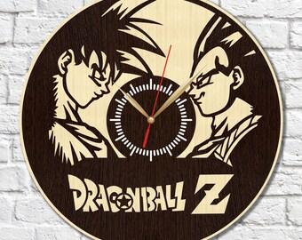 Dragon Ball Z_2 clock, Dragon Ball Z wooden clock, Dragon Ball Z HDF clock, Dragon Ball Z acrylic clock, wall clock, wood clock, home decor