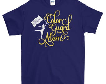 Color Guard Mom Shirt Band High School Personalized Name School Colors Proud Parent