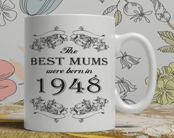 Mum 70th birthday mug mum 70 birthday mug for mum gift ideas for mum present for mum, Any year available on request FF B Mum 1948