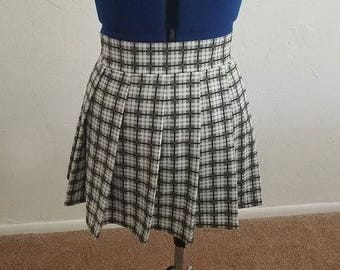 Plaid Pleat Mini Skirt - School Uniform Plaid Pleated Skirt - Any Size up to Plus Size - Many Different Plaid Prints and Colors Available