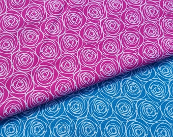 Rose Floral-Pink or Turquoise Fabric
