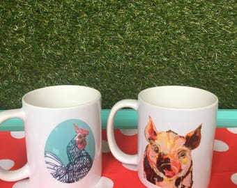Coffee Mugs - Bacon & Eggs