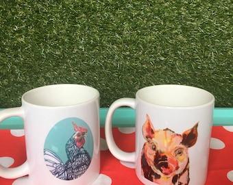Coffee Mugs - Bacon & Eggs
