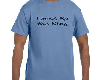 Christian Religous Tshirt Loved By the King model xx10282