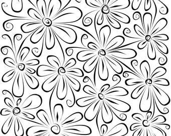 Silkscreen stencil No. 1