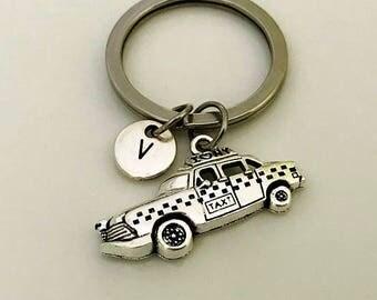 New York Taxi keychain, Taxi cab keychain, Driver gift, NY taxi jewelry, transportation keychain, silver taxi cab jewelry, Cab jewelry