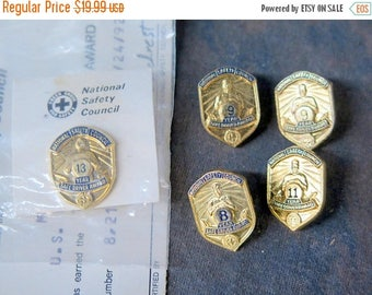 Summer Sale Lot of 5 National Safety Council Pins