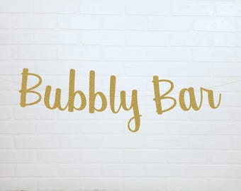 Bubbly Bar Bridal Shower Banner | Bubbly Bar Bridal Shower Sign | Bubbly Bar Bridal Shower | Mimosa Bar Bridal Shower | Bubbly Bar