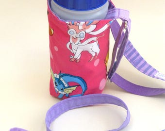 WaterOnTheGo water bottle carrier bottle sling 50cl adjustable strap Pokemon