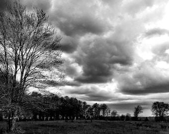 Black & White Skyline Photograph
