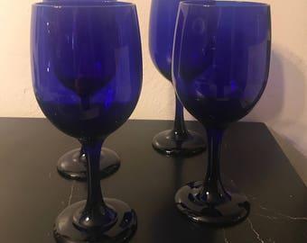 Cobalt Blue Wine Glasses