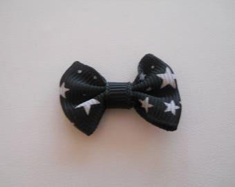 Black Stars bow white X 1