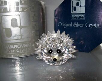 Swarovski Silver Crystal Large Hedgehog-Swarovski Hedgehog-Crystal Hedgehog-Vintage Crystal Hedgehog-Crystal Hedgehog-Silver Bay Crystals