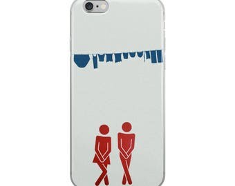 Funny Naked Man and Women iPhone Case - Iphone 7 case - Iphone 8 case - Iphone 7 plus case - Iphone 6 case - Iphone X case