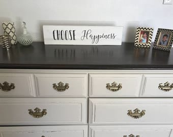 SOLD** Example White Distressed Dresser