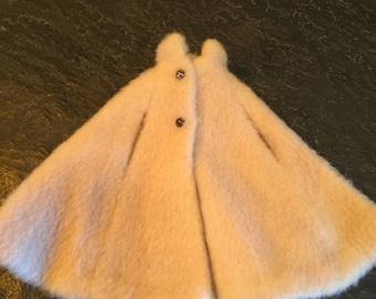Barbie faux fur cape - vintage
