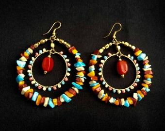 Gift for mum, Hoop Earring, Boho earrings, glamorous earring, dangle earrings, earrings sale, earrings for women