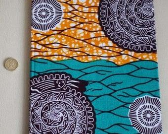 African print fabric 2018 A4 weekly Diary Planner Calendar Agenda week to view Vibrant Unique Original Hardback Ankara Dovetailed London