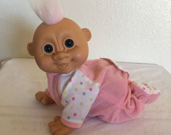 Vintage 90's Giggles the baby Troll by Russ.