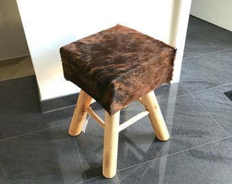 Cow hide stool