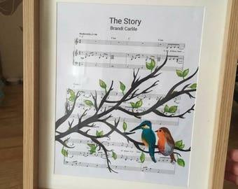 Personalised sheet music art