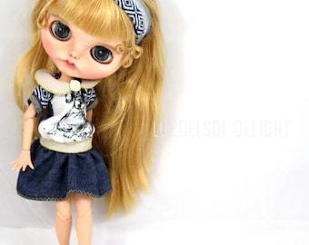Blythe low waist denim dress