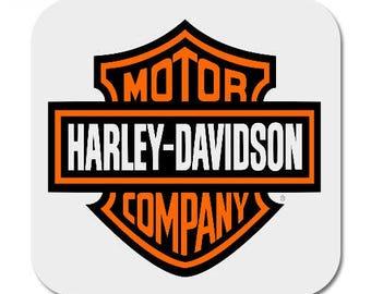 4 x Harley Davidson Printed Mug Coaster Coasters . biker bikers chopper choppers