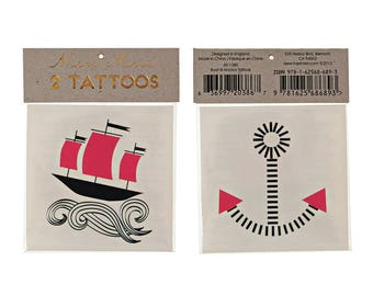 Pirate Temporary Tattoo Favors/ Pirate Temporary Tattoos/ Pirate Party Favors/ Pirate Party Favors