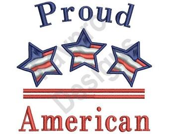 Proud American - Machine Embroidery Design