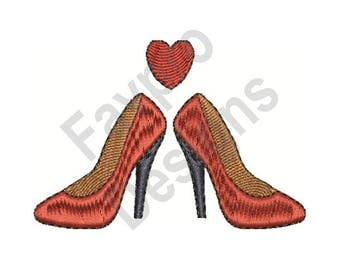 Love Shoes - Machine Embroidery Design