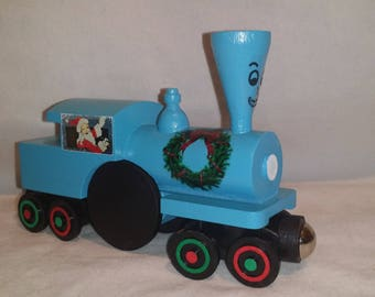 Whittle Style Little Engine That Could custom wooden Train New condition Christmas themed