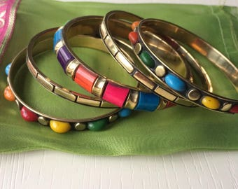 Beautiful hand-made hand-painted indian bangles