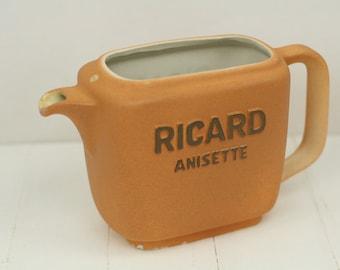 Ricard jug – Ricard water jug – Ricard Anisette – ceramic jug  - Pastis – retro – French barware
