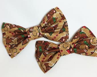 Bow Tie, Dad and Son Bow Ties, Christmas Bow Tie,Mens Bow Tie, Gingerbread Bowtie, Father Son Bow Ties, Boys Bow Tie, Bowtie, Bow Tie  DS732