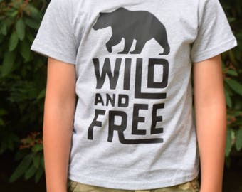 Wild and free, free tshirt, adventure boy tshirt, adventure boy shirt, baby boy shirt, baby boy adventure, boy adventure tshirt, adventure