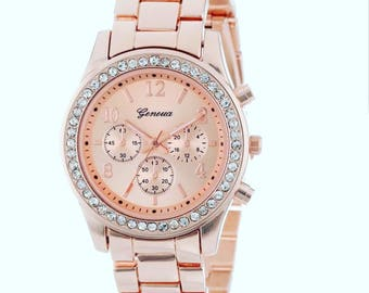 Trendy Watch | Women Watches | Diamond Watch | Shabby Chic | Gift's For Her | Mom | Daughter FREE SHIPPING