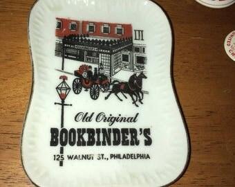 Vintage Old Original Bookbinder's Ashtray Change dish, trinket Tray -Philadelphia PA