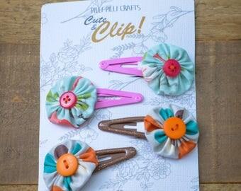 cute floral hair clips