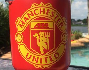 Manchester United vinyl sticker. (Yellow)