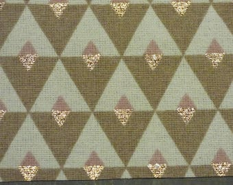 CUT OF FABRIC DIAMONDS WHITE, PINK, TAUPE AND COPPER