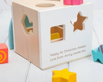 Personalised Bear Shape Sorter Toy