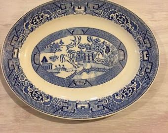 Homer Laughlin Blue Willow Platter