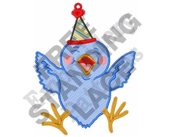 Stand Alone Embroidery Designs : Birthday chick machine embroidery design hoop