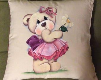 Pillow Bear with Daisy