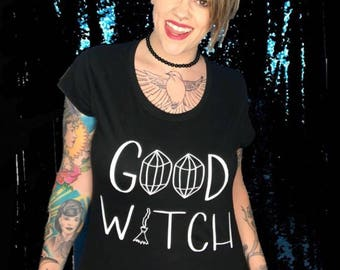 Good witch fitted tee