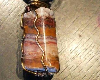 Onyx Wire Wrap Pendant