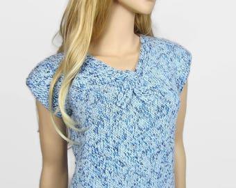 NAUTILUS - Women sweater nautical look - T 40 (M) - hand knitted