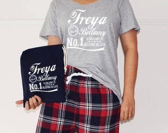 Personalised 'Is Brilliant At' Ladies Pyjamas, PJ Set